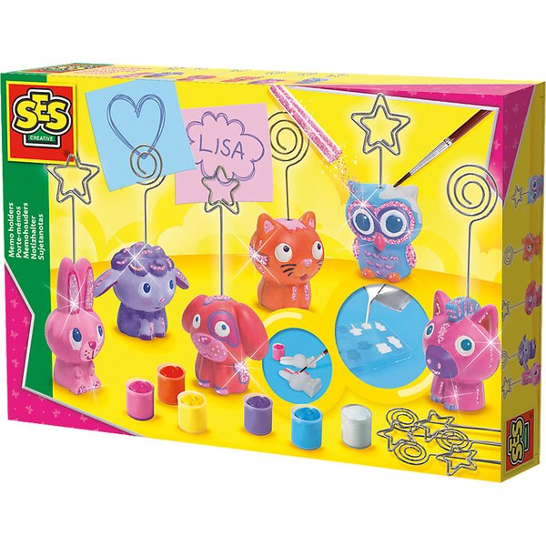 SES Creative Children's Memo Holders Casting and Painting Set, 5 to 12 Years, Multi-colour (01357)